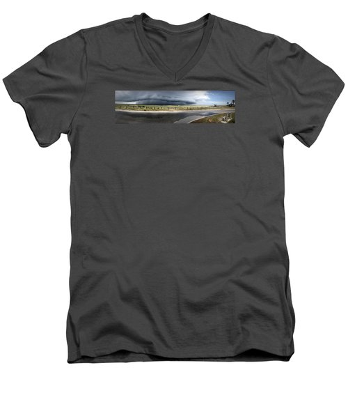 Men's V-Neck T-Shirt featuring the photograph Shell Island Squall by Phil Mancuso