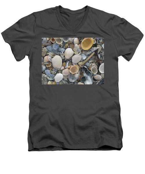 Shell Mosaic Men's V-Neck T-Shirt