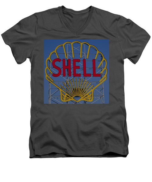 Shell Sign Cambridgeside Men's V-Neck T-Shirt