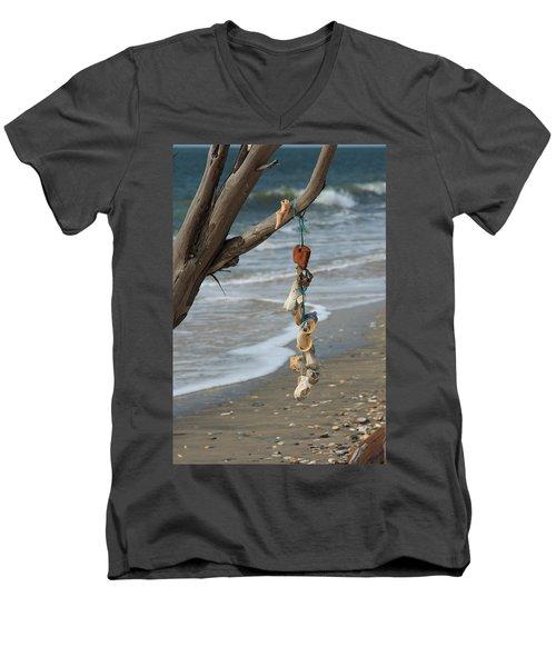 Shells On A String Men's V-Neck T-Shirt