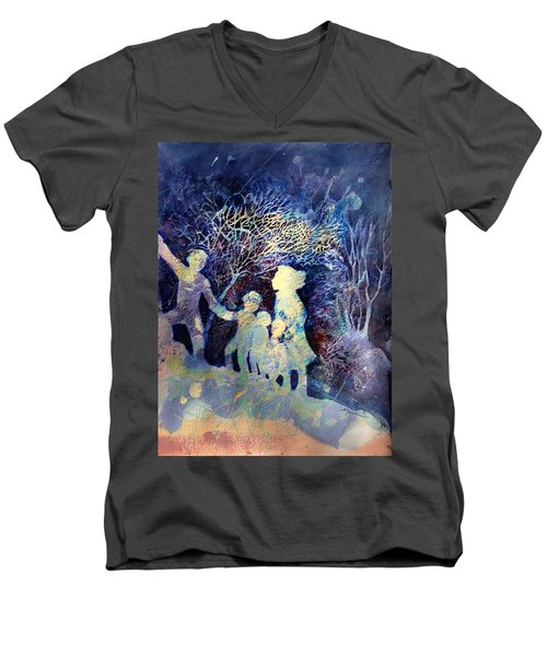 Shelter From The Storm Men's V-Neck T-Shirt by Marilyn Jacobson