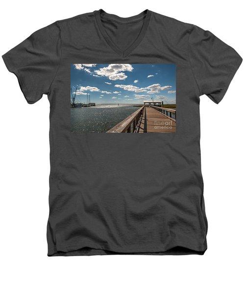 Shem Creek Pavilion  Men's V-Neck T-Shirt