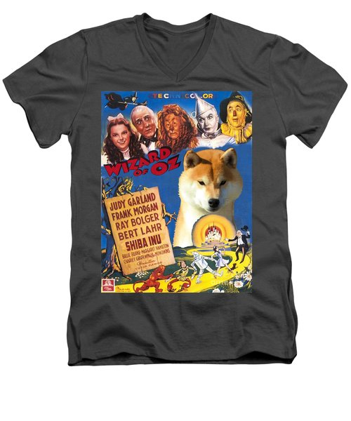 Shiba Inu Art Canvas Print - The Wizard Of Oz Movie Poster Men's V-Neck T-Shirt