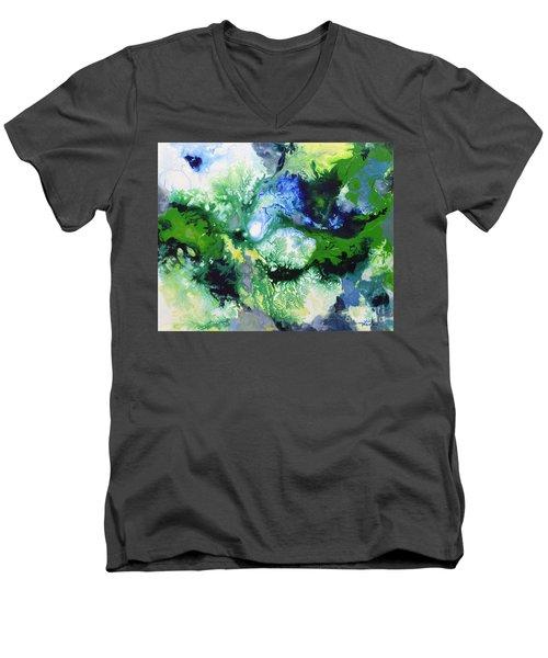 Shift To Grey Men's V-Neck T-Shirt
