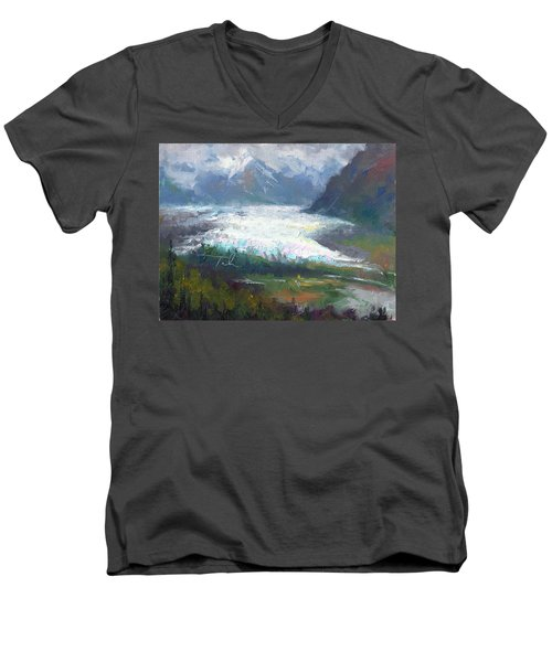 Shifting Light - Matanuska Glacier Men's V-Neck T-Shirt