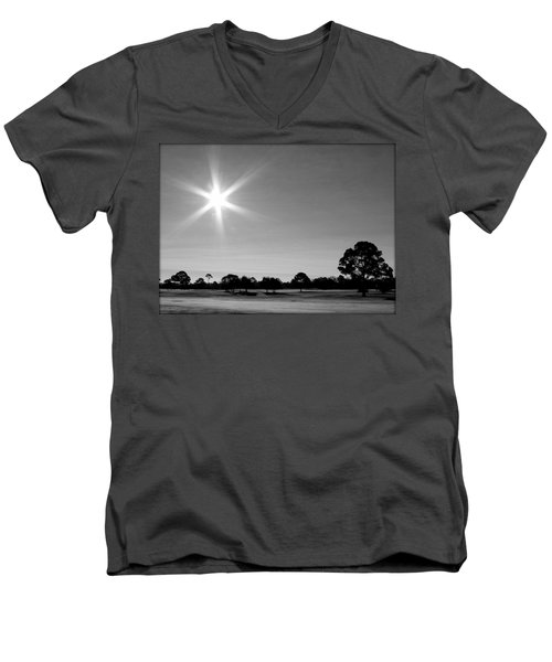 Men's V-Neck T-Shirt featuring the photograph Shine And Rise by Faith Williams