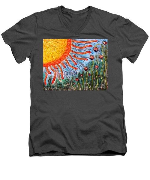 Shine On Me.. Men's V-Neck T-Shirt by Jolanta Anna Karolska