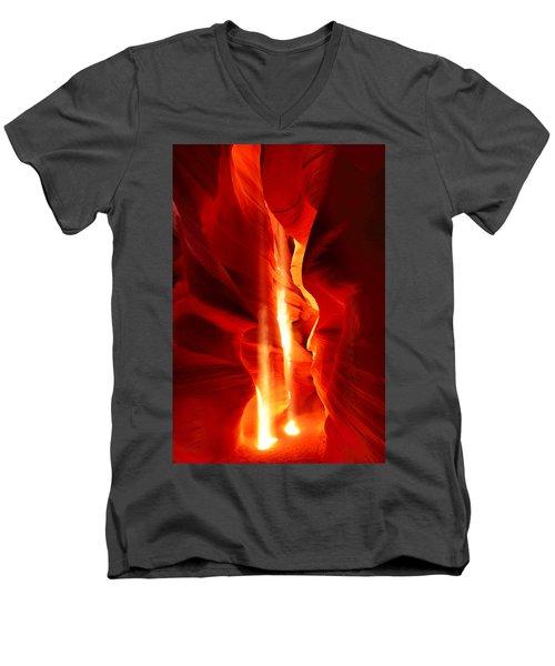 Shining Light Men's V-Neck T-Shirt by Midori Chan