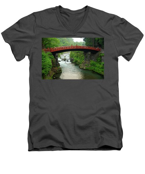 Shinkyo In Nikko Men's V-Neck T-Shirt