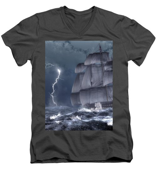 Ship In A Storm Men's V-Neck T-Shirt