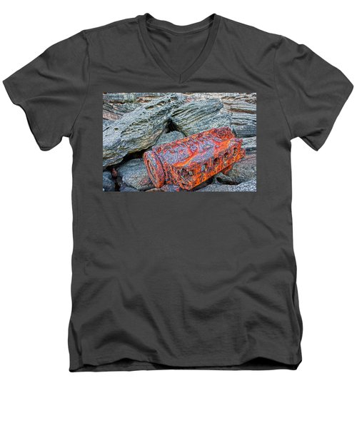 Shipwrecked ? Men's V-Neck T-Shirt by Miroslava Jurcik