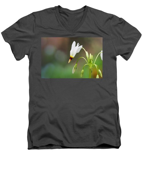Shooting Star Wildflower Men's V-Neck T-Shirt by Melinda Fawver