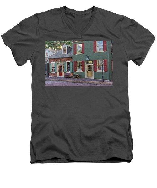 Shops S Main St Charles Mo Dsc00886  Men's V-Neck T-Shirt by Greg Kluempers