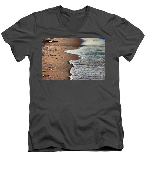 Shore Men's V-Neck T-Shirt by Bruce Patrick Smith
