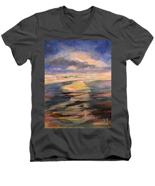 Shoreline Sunrise 11-9-14 Men's V-Neck T-Shirt