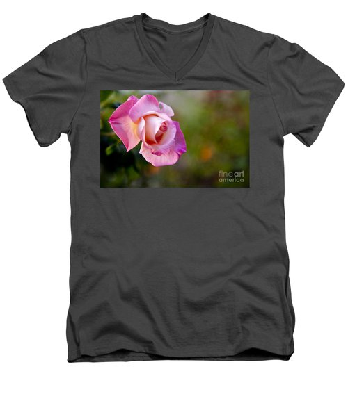 Short Lived Beauty Men's V-Neck T-Shirt by David Millenheft