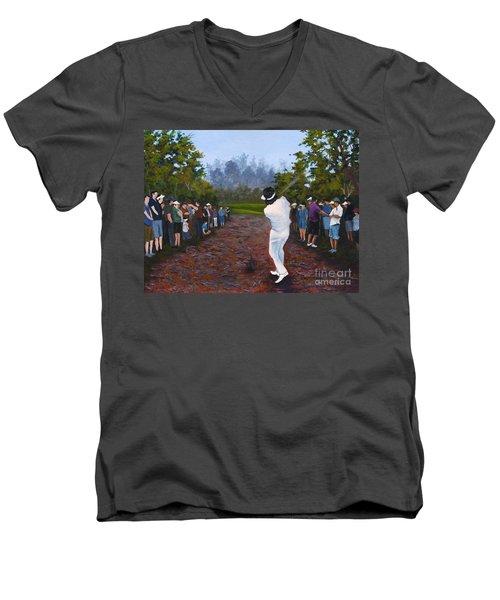 Shot Heard Around The World Men's V-Neck T-Shirt