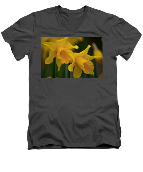 Shout Out Of Spring Men's V-Neck T-Shirt by Tikvah's Hope