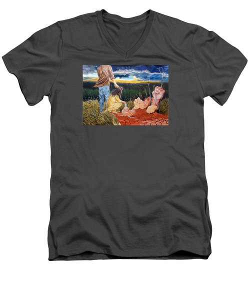 Showing How..... Men's V-Neck T-Shirt by Lazaro Hurtado