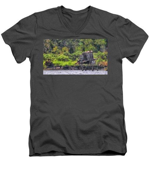 Shrimp No More Men's V-Neck T-Shirt