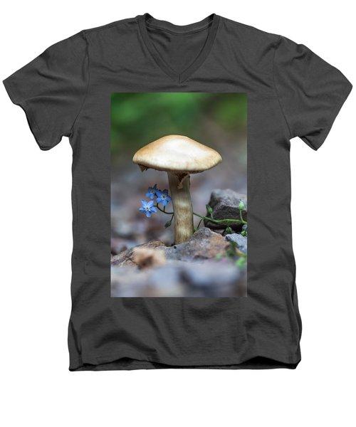 Shy Men's V-Neck T-Shirt by Aaron Aldrich