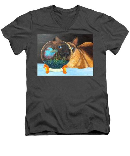 Siam I Am Men's V-Neck T-Shirt