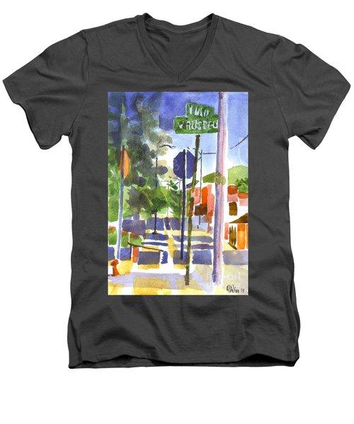 Sign Posts Men's V-Neck T-Shirt