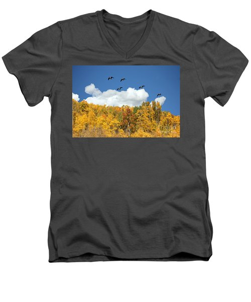 Signs Of The Season Men's V-Neck T-Shirt by Bob Hislop
