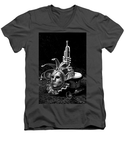 Men's V-Neck T-Shirt featuring the photograph Silent Night In Venice by Elf Evans