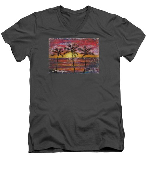 Island Silhouette  Men's V-Neck T-Shirt