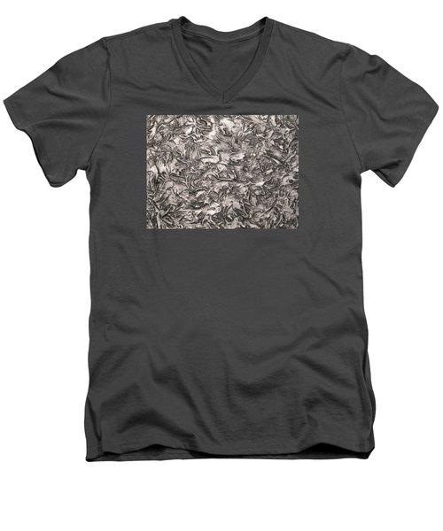 Silver Streak Men's V-Neck T-Shirt by Alan Casadei