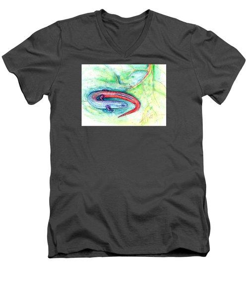 Simon Men's V-Neck T-Shirt by Ashley Kujan