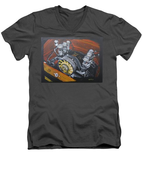 Singer Porsche Engine Men's V-Neck T-Shirt