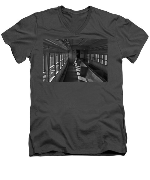 Men's V-Neck T-Shirt featuring the photograph Singin' In The Train by Jeremy Rhoades