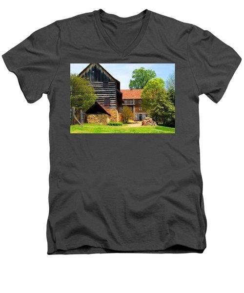 Single Brothers House Men's V-Neck T-Shirt by Kathryn Meyer