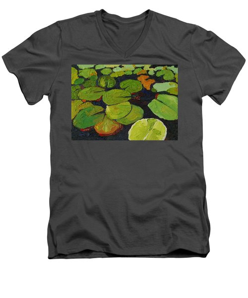 Singleton Lily Pads Men's V-Neck T-Shirt