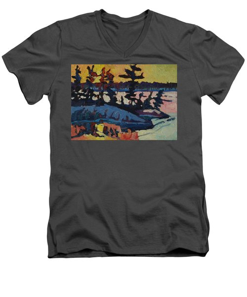 Singleton Sunset Men's V-Neck T-Shirt
