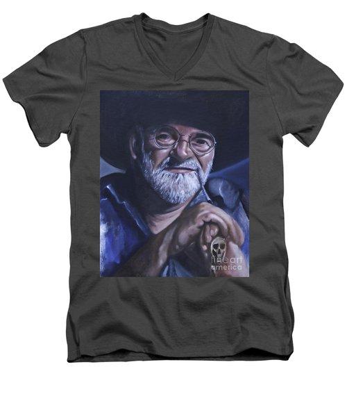 Sir Terry Pratchett Men's V-Neck T-Shirt