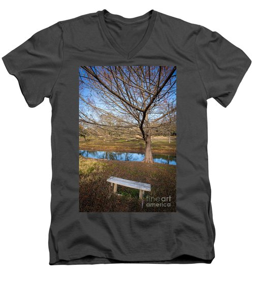Men's V-Neck T-Shirt featuring the photograph Sit And Dream by John Wadleigh