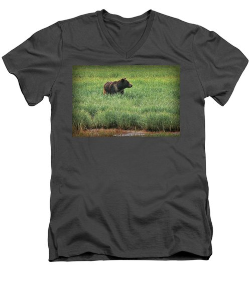 Sitka Grizzly Men's V-Neck T-Shirt