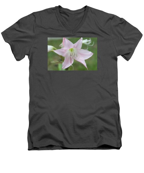 Six Point Flower Men's V-Neck T-Shirt