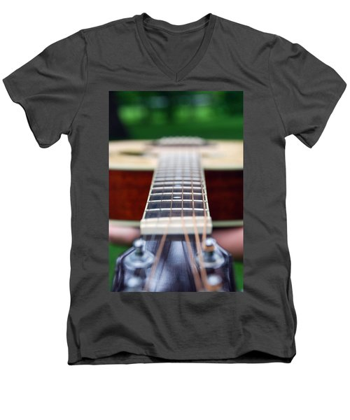 Six String Music Men's V-Neck T-Shirt