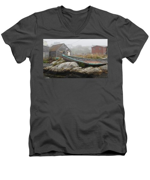 Men's V-Neck T-Shirt featuring the photograph Skeleton Ashore by Jennifer Wheatley Wolf