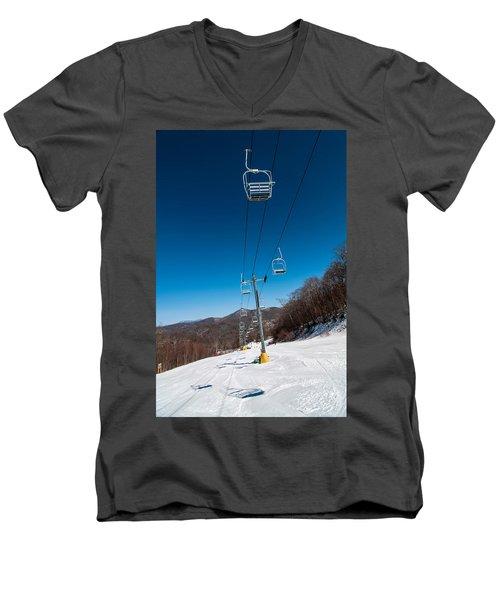 Ski Lift Men's V-Neck T-Shirt