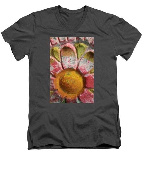 Skc 0008 Scraped Paint Men's V-Neck T-Shirt by Sunil Kapadia