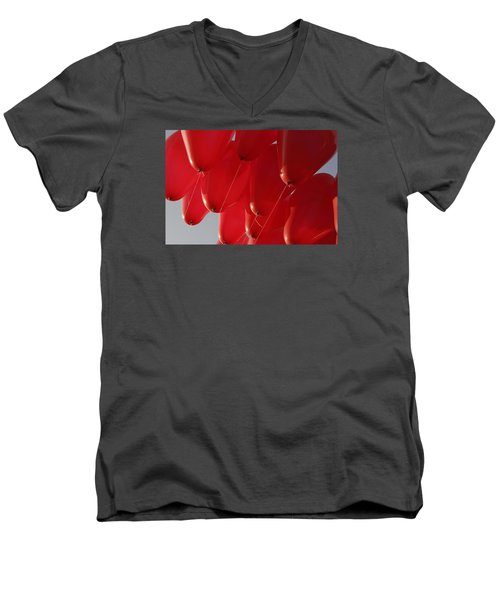 Men's V-Neck T-Shirt featuring the photograph Skc 0029 Unity In Flying by Sunil Kapadia