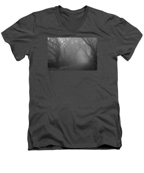Men's V-Neck T-Shirt featuring the photograph Skc 0077 A Romatic Path by Sunil Kapadia