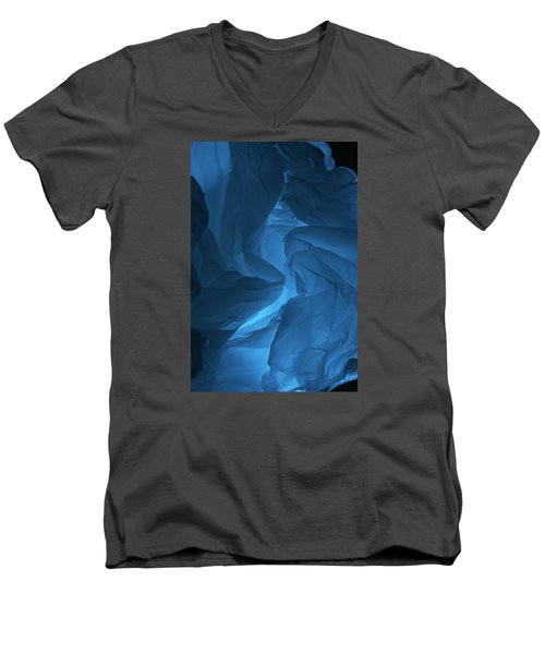 Skc 0247 Mystery In Blue Men's V-Neck T-Shirt
