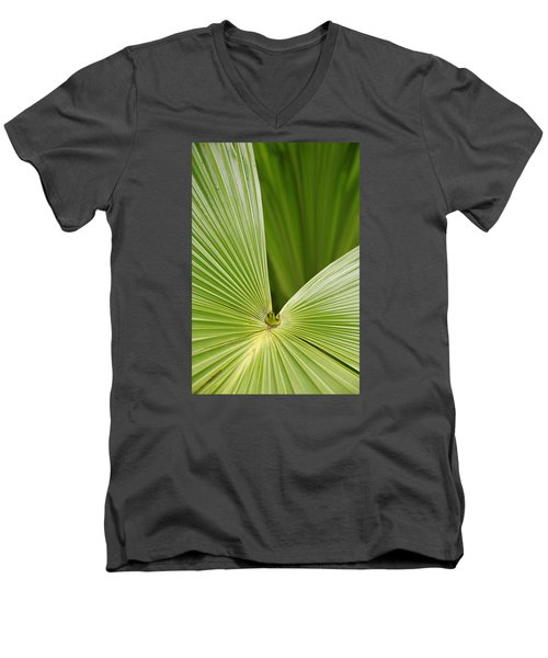 Skc 0691 The Paths Of Palm Meeting At A Point Men's V-Neck T-Shirt by Sunil Kapadia