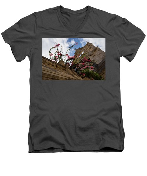 Men's V-Neck T-Shirt featuring the photograph Sky Blossoms by Georgia Mizuleva